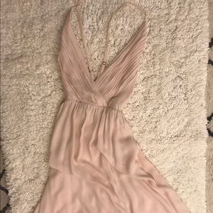 ALICE + OLIVIA pale pink goddess dress!
